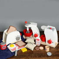 Child Play House Kitchen Toys Wooden Simulation Cooking Tableware Baby Gift