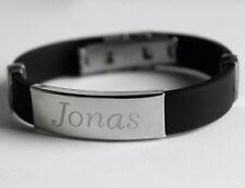 Silicone Nom Bracelet - JONAS - Bijoux Pour Hommes Frère Copain Fête des Pères