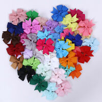 40Pcs Baby Kids Girls Hair Clip Boutique Grosgrain Ribbon Alligator Clip Hairpin