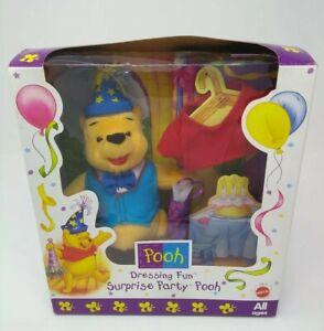 Mattel: Dressing Fun- Surprise Party Pooh #19616 - Vintage 1998 - New Sealed