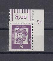 BRD Mi-Nr. 349 y Bogenecke mit DZ 12 ** postfrisch - Mi. 45,-