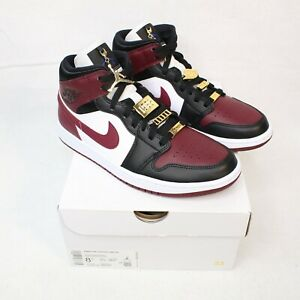 Nike Air Jordan 1 Mid SE Beetroot Gold Pendants Women's CZ4385-016 Sz 7, 8, 8.5