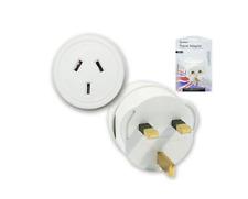 2x Sansai Travel Power Adapter Outlet AU/NZ Socket to UK England/Hong Kong Plug