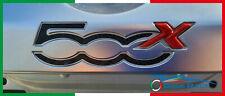 adesivi auto fiat 500x sticker recesso logo posteriore decal carbon look vinile