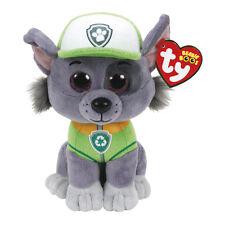 "Rocky Plush Soft Toy, Paw Patrol, Ty Beanie Boo's Collection 6"" (15cm)"
