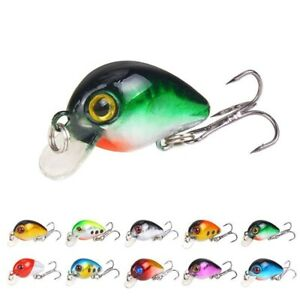10pcs Mini Bronzing Fishing Lures Micro Crank Bait CrankBait Rattles 3cm 1.6g
