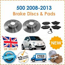 For Fiat 500 1.2 2008-2013 TWO 2 Front Brake Discs & Brake Pads New OE Quality