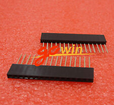 10Pcs 16 Pin 1x16P 2.54mm Long Leg 11mm Single Row Female Straight Header Pin St