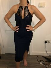 BNWT LIPSY NAVY SEQUIN HALTERNECK BODYCON STYLE DRESS SIZE 16 NEW STYLE IN £75