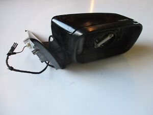 BMW E46 SALOON TOURING DRIVERS SIDE MANUAL DOOR WING MIRROR 5 WIRE BLACK 52