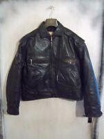 VINTAGE 70'S LEE TREVOR LEATHER HIGHWAY PATROL MOTORCYCLE JACKET SIZE XL
