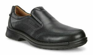 Ecco Men's Fusion II Comfort Leather Slip-On Loafers - Black Size EU 39 US 5-5.5