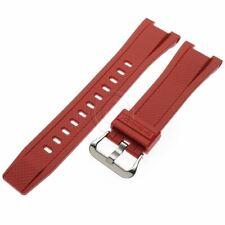 Genuine Casio Red Rubber Watch Band Strap G-Steel GST-S300G-1A4 GST-W300G-1A4