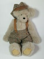 Vtg 1995 Hand Crafted Jointed Teddy Bear by Judy Green Signed & Dated in Outfit