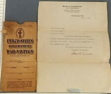 1918 War Savings Certificate Envelope Liberty Bond Essay Winner Chattanooga TN