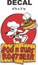 Vintage Style Dog and Suds Root Beer Soda Vinyl Decal