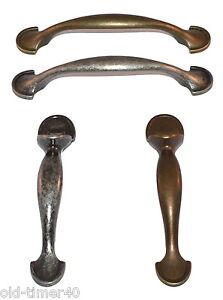 Antique Brass & Pewter Effect Bow Latch Kitchen Cupboard Door Pull Handle