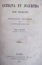 CATILINA ET JUGURTHA  Salluste 1870 traduction en Latin
