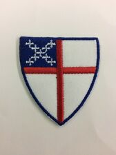 Iron On Embroidered Episcopal Shield Patch