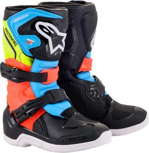 Alpinestars Tech 3S Boots Size 11 Black/Yellow/Red 2014518-1538-11