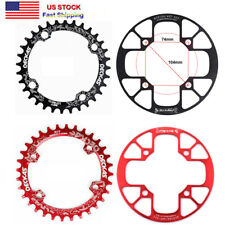 Bike Crankset crank arm 170mm BB Narrow Wide Single Chainring 32 34 36 38T Red