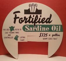 Fortified Sardine Oil Feed Seed Farm Counter Sign Cattle Cow Calf Chicken +EXTRA
