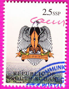 SOUTH SUDAN 2011 Scott Unlisted Withdrawn Coat of Arms Used