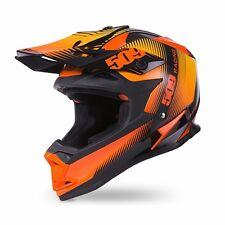 509 Black Fire Altitude Snowmobile Helmet Orange Black, 509-Hel-Abf