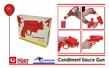 BBQ CONDIMENT GUN The Sure Fire Condiment Dispenser 2 x Cartridges Kids BBQ BNIB