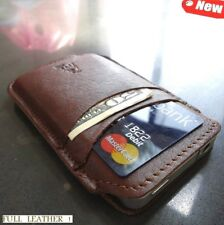 Genuine FULL leather case  BlackBerry Curve 9220 cover purse pouch brown pull uk