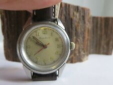 Vintage Bulova Military Style Radium Dial Winding Mens Watch Runs Works PW1