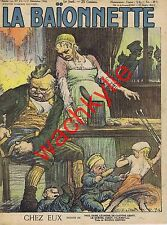 La baionnette n°75 du 07/12/1916 Chez eux Léandre Iribe de Gastyne Le Quesne