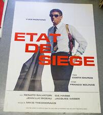 Affiche de cinéma : ETAT DE SIEGE de COSTA-GAVRAS