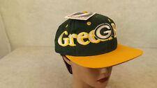 VTG Green Bay Packers Snapback Hat/Cap LARGE Sewn Logo 7  NWT