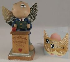 Teacher W/ Podium  Angel Cheeks Russ Berrie Discontinued - Limited Quantities