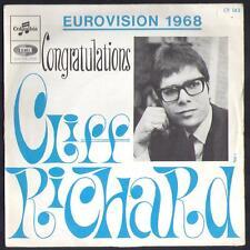 EUROVISION 45T EP CLIFF RICHARD Congratulations Pressage anglais EUROVISION 1968