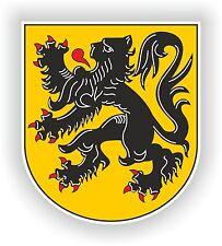 Vlaanderen Flanders Flemish Coat of Arms Sticker Bumper Belgium Motorcycle Bike