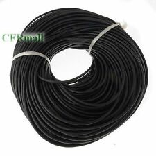 3mm High Quanlity Finding Round Black Real Leather Cord 100m for Jewelry Craft