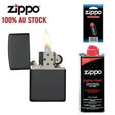 NEW Zippo 218 Black Matte Lighter with 118ml Fluids & Flints, 90218, 100%Genuine