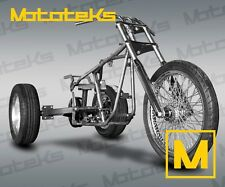 HARLEY TRIKE KIT ROLLING CHASSIS KIT W/ AXLE FRAME WHEELS FRONT END ETC NEW