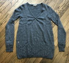 Lacoste Womens Long Sleeve V-Neck Pullover Sweater Cotton Size 34