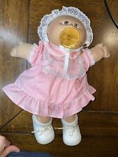 Cabbage Patch Kids Preemie Brown Eyes Doll Pacifier & dimples 1985 CPK Vintage