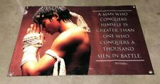 Muay thai thick canvas vinyl banner head band fighter poster gym martial arts