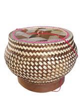 Kratip Thai Handicraft Sticky Rice Bamboo Basket Box container Steamer Cookware