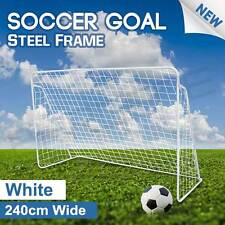 240cm Soccer Goal Frame Portable Football Net with Polyester Steel No Ball Goals