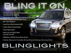 LED Light Strips HeadLamp DayTime Running Lights Headlight DRLs for GMC Terrain