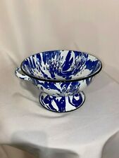 enamelware colander NEW Cobalt blue with Handles  9 1/2 wide 5 1/2 High