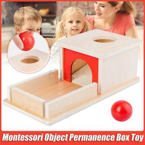 Montessori Object Permanence Box Ball Matching Game Kids Baby Education Toys