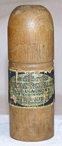 Vintage Sanford's Ink Bottle Traveller Wood Container  1920's?