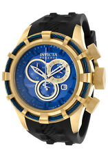 New Invicta Reserve 50mm Bolt Blue Dial Chronograph Rubber Strap Watch 15785